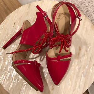 GX By Gwen Stefani Red Leather Stiletto